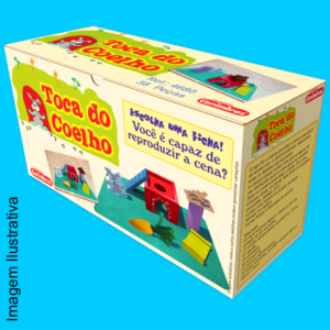 Brinquedo educativo Toca do Coelho Carimbras - caixa