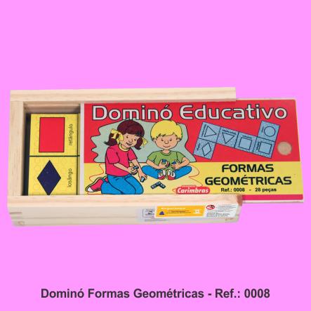 domino formas geometricas carimbras