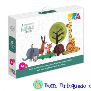 quebra-cabeça 3d animais da savana babebi