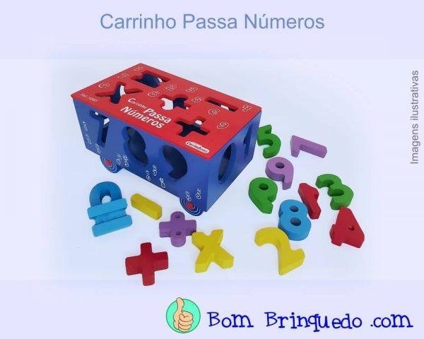 carrinho passa números carimbras bom brinquedo