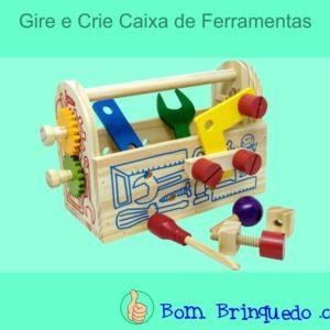 gire e crie caixa de ferramentas newart bom brinquedo